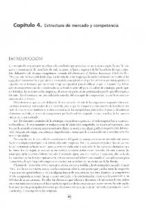 Capitulo 4. Estructura de mercado y competencia