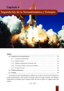 Capítulo 4 Segunda ley de la Termodinámica y Entropia