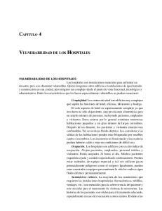 CAPITULO 4 VULNERABILIDAD DE LOS HOSPITALES