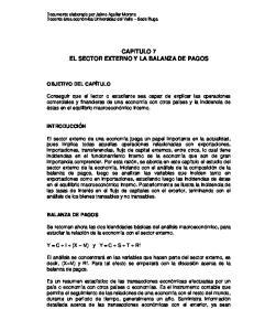 CAPITULO 7 EL SECTOR EXTERNO Y LA BALANZA DE PAGOS