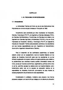 CAPITULO I 1. EL PROBLEMA DE INVESTIGACION