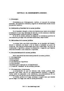 CAPITULO I: EL ORDENAMIENTO JURIDICO