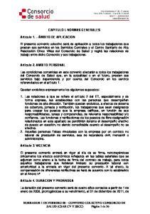 CAPITULO I. NORMAS GENERALES