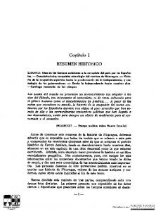 Capitulo I RESUMEN HISTORICO