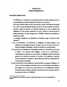 CAPITULO II MARCO REFERENCIAL. 1.0 MARCO NORMATIVO