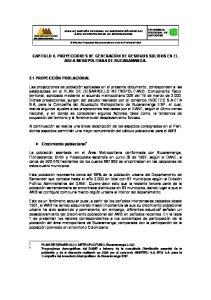 CAPITULO II. PROYECCIONES DE GENERACION DE RESIDUOS SOLIDOS EN EL AREA MEROPOLITANA DE BUCARAMANGA