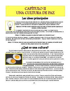 CAPÍTULO II UNA CULTURA DE PAZ