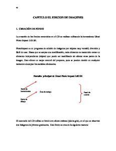CAPITULO III. EDICION DE IMAGENES