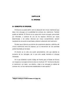 CAPITULO III EL DIVORCIO