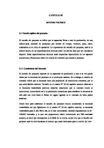 CAPITULO III ESTUDIO TECNICO