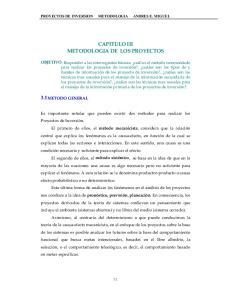 CAPITULO III METODOLOGIA DE LOS PROYECTOS
