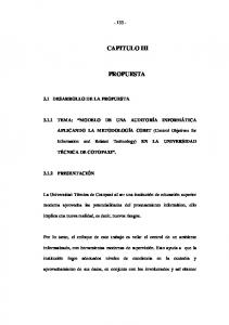 CAPITULO III PROPUESTA