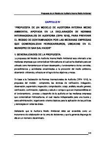 CAPITULO IV 1. GENERALIDADES DE LA PROPUESTA