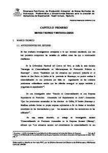 CAPITULO PRIMERO MARCO TEORICO Y METODOLOGICO