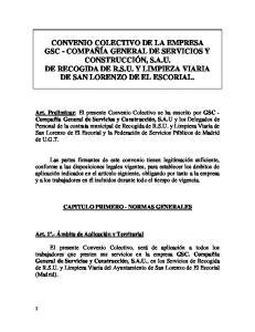 CAPITULO PRIMERO - NORMAS GENERALES