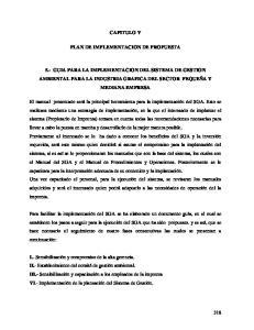 CAPITULO V PLAN DE IMPLEMENTACION DE PROPUESTA