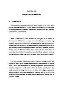 CAPITULO VIII CONTRATO DE FIDEICOMISO
