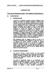 CAPITULO VIII VUELOS DE DEMOSTRACIÓN Y DE VERIFICACIÓN ESPECIAL
