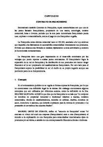 CAPITULO XI CONTRATO DE FRANCHISING