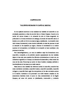 CAPITULO XI TALENTO HUMANO Y CAPITAL SOCIAL
