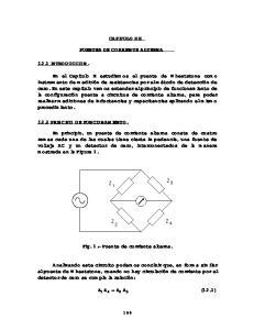 CAPITULO XII PUENTES DE CORRIENTE ALTERNA