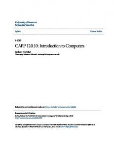 CAPP : Introduction to Computers