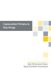 Capsulated Miniature Slip Rings