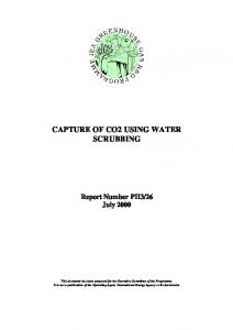 CAPTURE OF CO2 USING WATER SCRUBBING