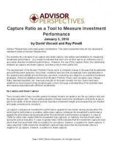 Capture Ratio as a Tool to Measure Investment Performance