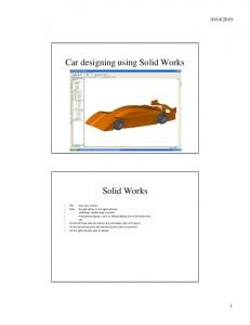 Car designing using Solid Works