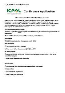 Car Finance Application
