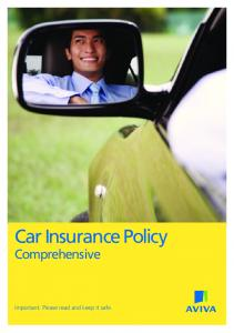 Car Insurance Policy Comprehensive