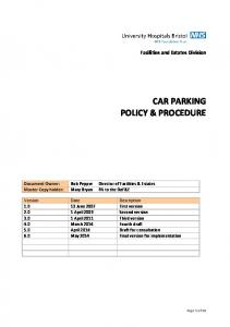 CAR PARKING POLICY & PROCEDURE