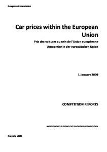 Car prices within the European Union