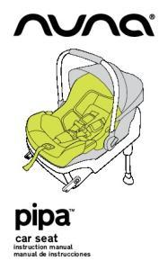 car seat instruction manual manual de instrucciones