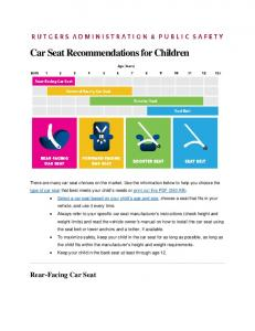 Car Seat Recommendations for Children
