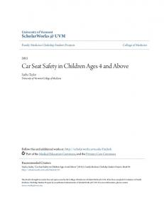 Car Seat Safety in Children Ages 4 and Above