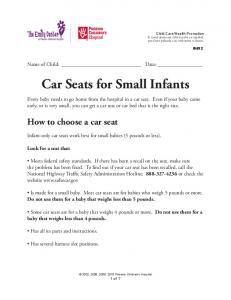 Car Seats for Small Infants