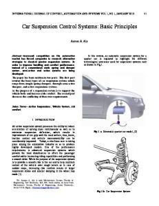Car Suspension Control Systems: Basic Principles