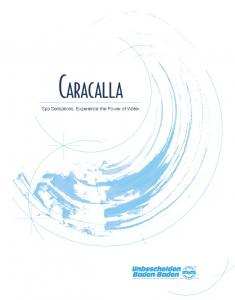 Caracalla. Spa Sensations. Experience the Power of Water