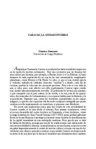 CARACAS, LA CIUDAD INVISIBLE