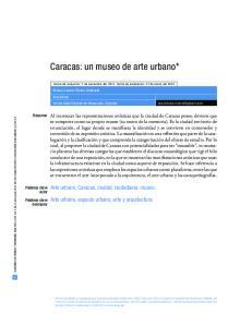Caracas: un museo de arte urbano*