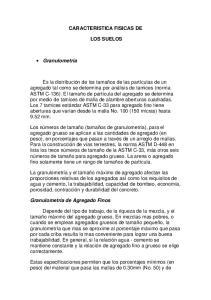 CARACTERISTICA FISICAS DE LOS SUELOS