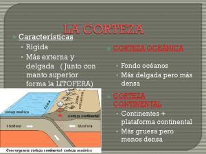 Características. Rígida Más externa y delgada ( Junto con manto superior forma la LITOFERA) CORTEZA OCEÁNICA