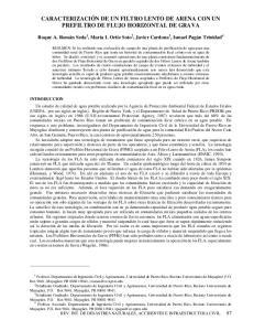 CARACTERIZACIÓN DE UN FILTRO LENTO DE ARENA CON UN PREFILTRO DE FLUJO HORIZONTAL DE GRAVA