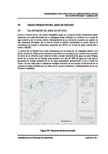 CARACTERIZACION DEL AREA DE ESTUDIO DELIMITACION DEL AREA DE ESTUDIO