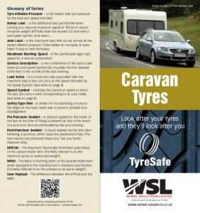 Caravan Tyres. Look after your tyres and they ll look after you. Glossary of Terms