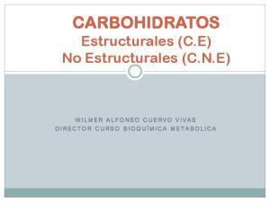 CARBOHIDRATOS Estructurales (C.E) No Estructurales (C.N.E)