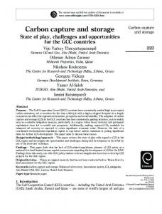 Carbon capture and storage State of play, challenges and opportunities for the GCC countries