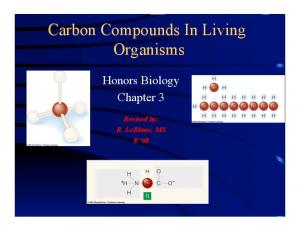 Carbon Compounds In Living Organisms